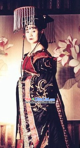 Daming Palace TV Drama Wu Zetian Costumes and Crown