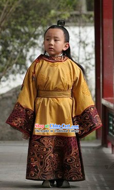 Ancient Chinese Ming Dynasty Prince Costumes and Wig Complete Set