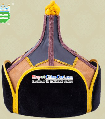 Handmade Traditional Mongolian Prince Hat for Men