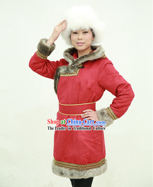 Traditional Chinese Mongolian Long Robe for Women