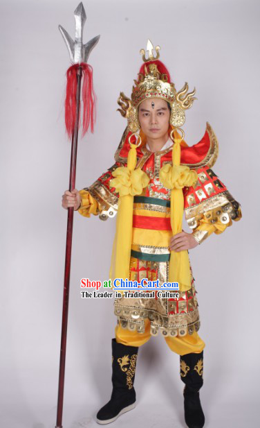 Traditional Ancient Chinese Er Lang Shen Costumes and Hat Complete Set