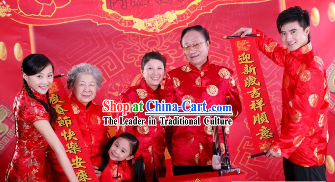 Chinese Lunar New Year Clothes Sets for Six People