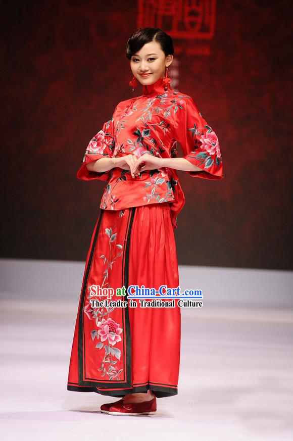 Chinese Brocade Kimono Wedding dress