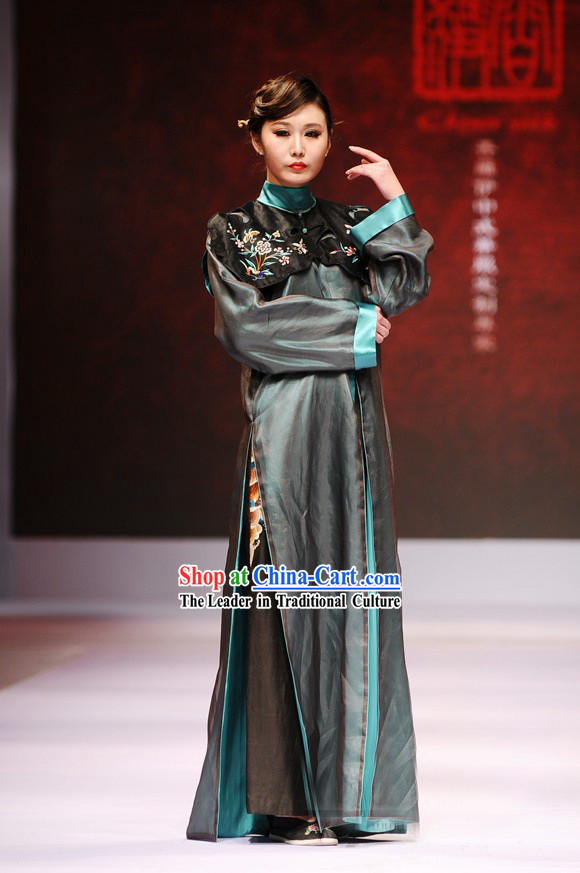Chinese Nobel Costumes Blue