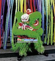 Green Ceremony and Opening Celebration Lion Dance Costumes Complete Set
