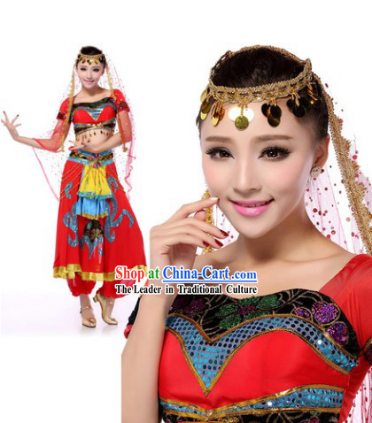 Traditional Indian Dance Costumes and Headdress for Women