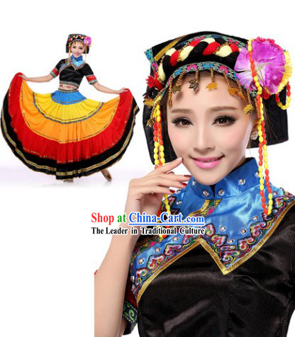 Traditional Yi Clothes and Headwear for Women