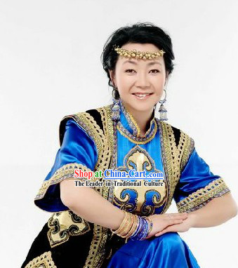 Chinese Traditional Mongolian Clothes for Women