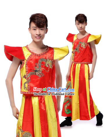 Chinese Traditional Drummer Uniform for Men