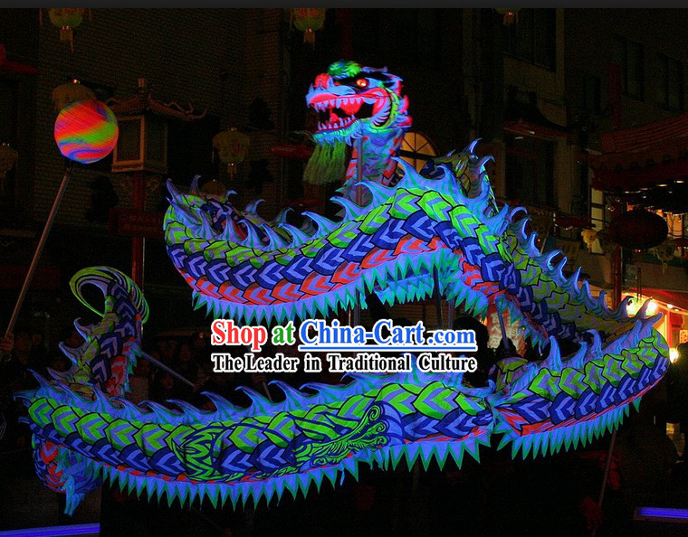 Supreme Happy Festival Celebration Fluorescent Dragon Dance Equipments Complete Set