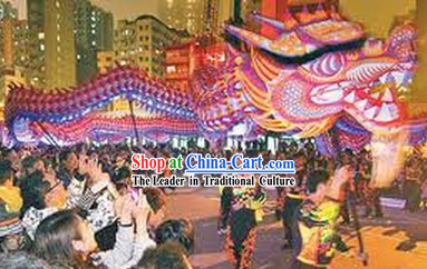 Supreme Handmade Happy Events Celebration Fluorescent Dragon Dancing Costumes Complete Set