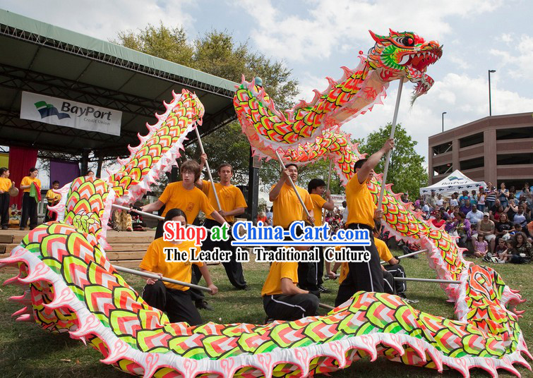 Professional Illuminated Dragon Dance Costume for 9-10 Adults
