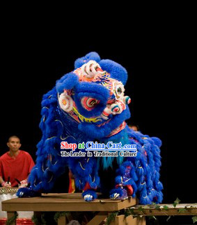 Blue Hoksan Lion Dance Costume for Rental