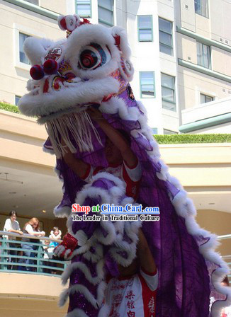 Purple Hoksan Wedding Lion Dance Costume for Rental