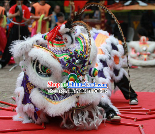 Ancient Chinese Style Southern Futsan Lion Dance Costume for Rental for Sale