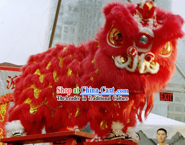 Chinese Year Southern Hoksan Professional Lion Dance Costume for Adults or Kids