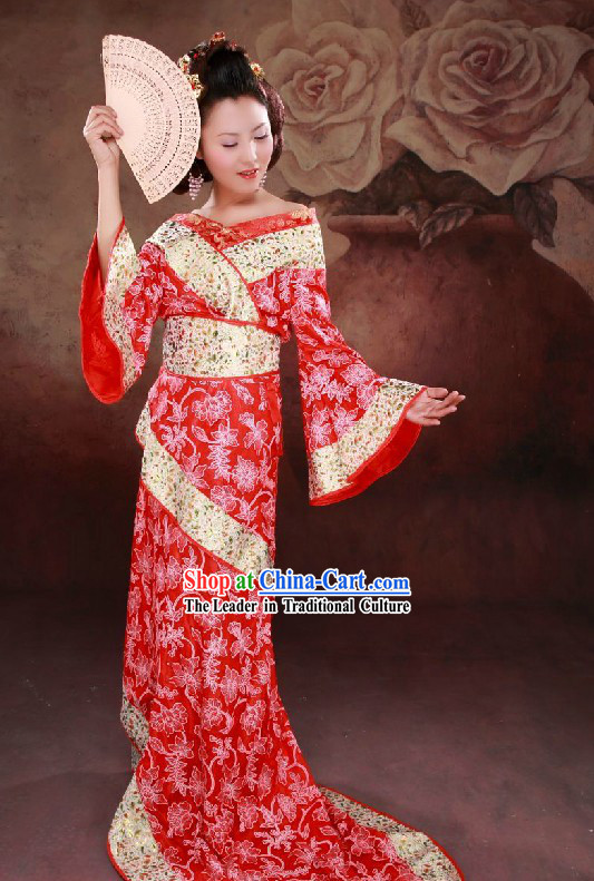 Ancient Chinese Red Hanfu Costumes for Women