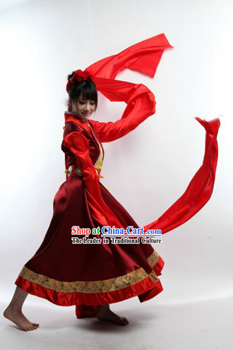 Long Sleeve Chinese Classic Dance Costumes for Women