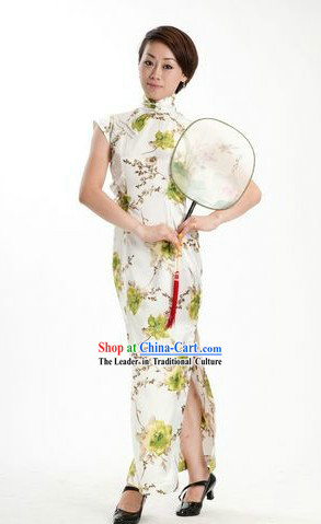 Chinese Minguo Time Fan Dance Cheongsam for Women