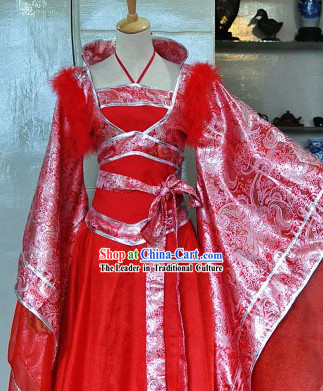 Chinese Classic Red Wedding Robe for Brides