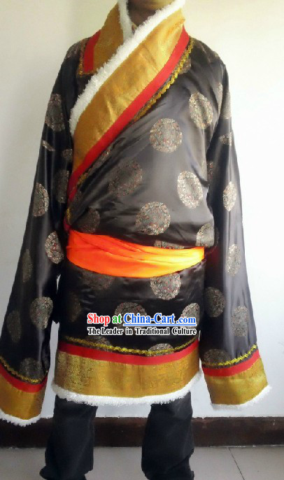 Traditional Chinese Tibetan Robe Set for Men