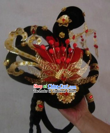Chinese Stage Performance Classical Dancing Hair Accessories and Wig