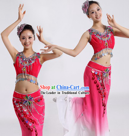 Dai Nationality Costume and Headpiece for Women