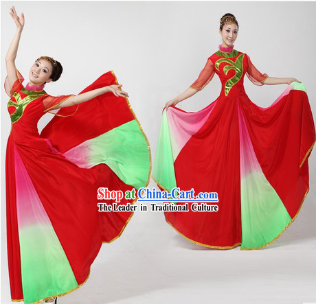 Accompany Dancer and Chorus Costume and Headpiece for Women