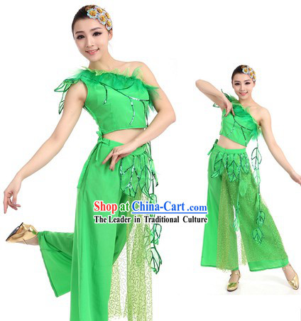 Green Spring Story Dance Costume and Hat for Women