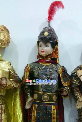 Ancient Chinese General Armor Costumes and Helmet for Kids
