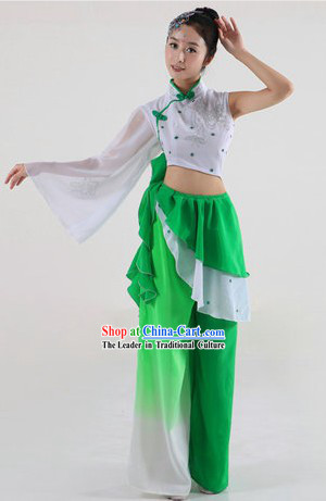 Universay Fan or Ribbon Dance Costumes and Headpiece for Women