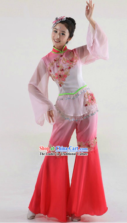 Chinese Style Stage Performance Dance Costume and Headpiece for Women