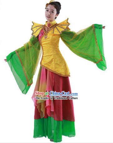 Ancient Chinese Style Fairy Dance Costume and Headpiece for Women