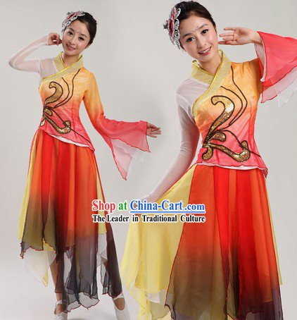 Chinese Classic Fairy Dance Costume and Headpiece for Women
