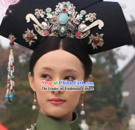 Zhen Huan Legend Imperial Hair Accessories Manchu Hat for Women