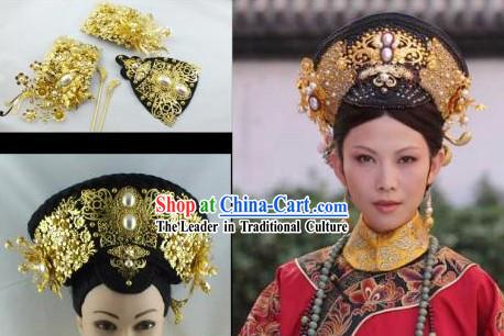 Astonishing Qing Dynasty Princess Outfit And Manchu Hat Short Hairstyles Gunalazisus
