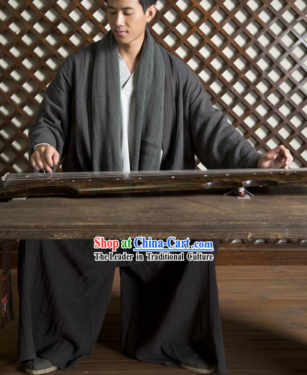 Chinese Classical Hanfu Clothing Complete Set for Wise Man