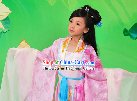Ancient Chinese Pink Princess Clothing for Kids