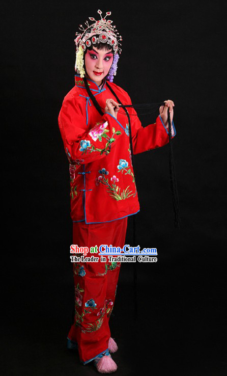 Red Chinese Peking Opera Costumes for Women