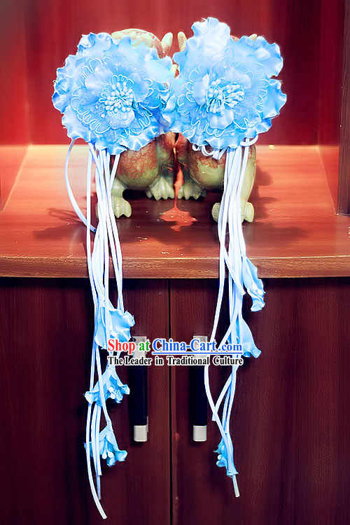 Traditional Chinese Handmade Flower Hair Accessories and Tassels