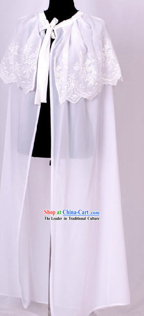 Ancient Chinese White Cape for Women