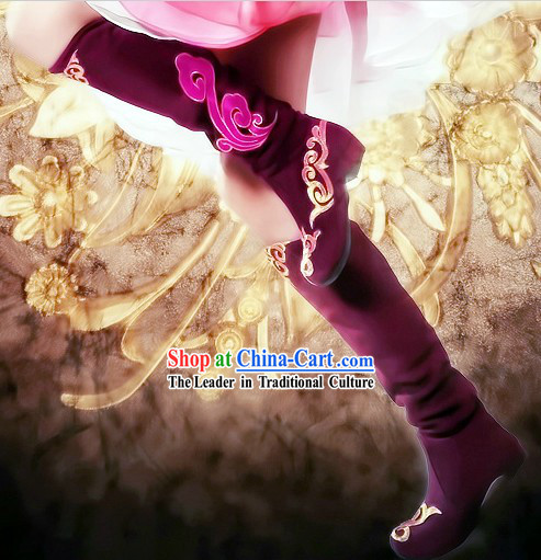 Ancient Chinese Style Hanfu Boots for Women