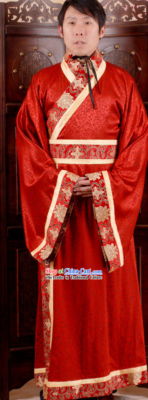 Traditional Chinese Red Wedding Dress for Men