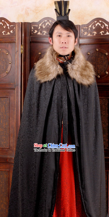 Traditional Chinese Black Cape for Men