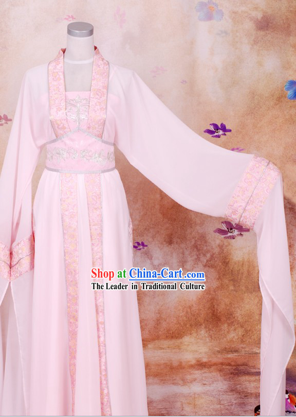 Ancient Chinese Pink Dance Costumes for Women
