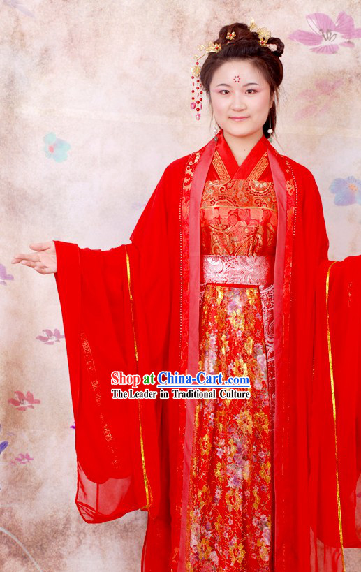Traditional Chinese Red Wedding Dress for Women