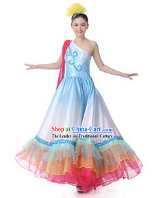 Traditional Chinese Lyrical Dance Costumes for Women