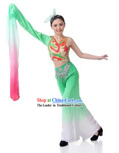 Traditional Chinese Classical Dance Costumes and Hair Accessories for Women
