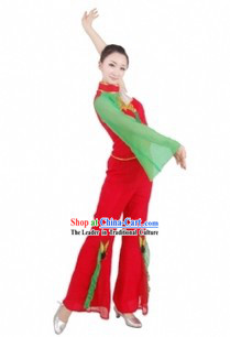 Traditional Chinese Fan Dance Costumes for Women