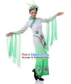 Traditional Chinese Classical Dance Costumes and Headpiece for Women